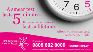 A smear test lasts 5 minutes