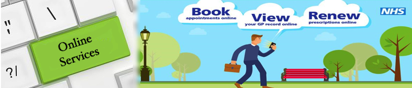 Online Services. Book appointments online. View your GP Record Online. Renew prescriptions online.