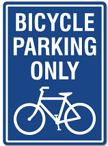 Bicycle Parking Only logo